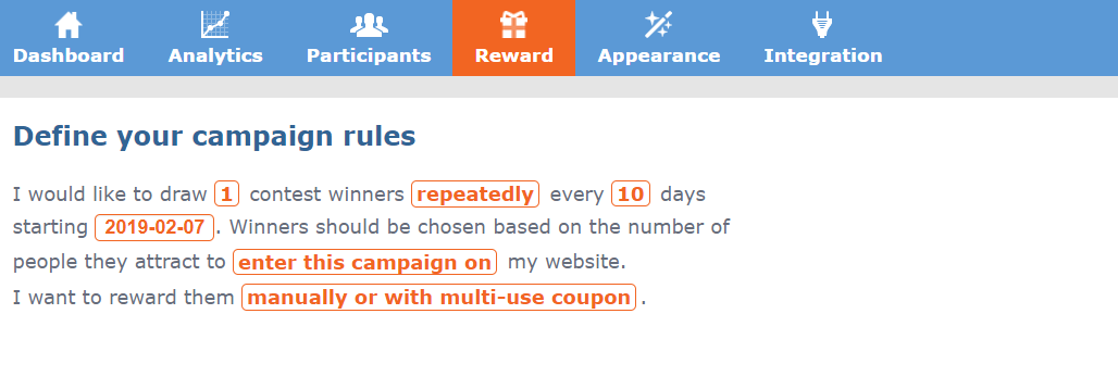 InviteBox_referral_contest_campaign for Brick and Mortar