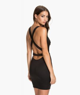 Cross Back Strap Dress