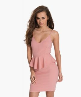 Peplum Thin Strap Dress