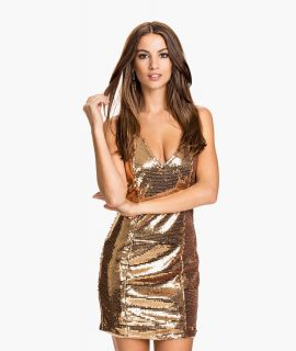 Shiny Panel V Dress