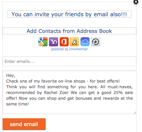invitebox referral email sharing
