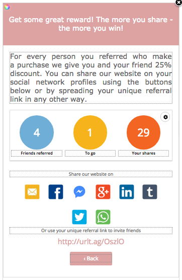 Invitebox referral campaign participant widget